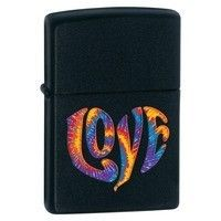 Фото Зажигалка Zippo 28045 COLOURFUL LOVE BLACK MATTE