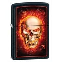 Фото Зажигалка Zippo 28307 LIGHTER BURNING SKULL