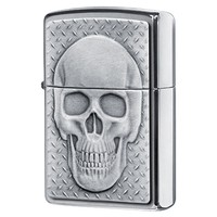 Фото Зажигалка Zippo 200 Skull with Brain Surprise