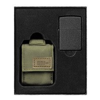 Фото Зажигалка с чехлом Zippo 236 Blk Crackle Ltr Tactical Pouch OD Green GS